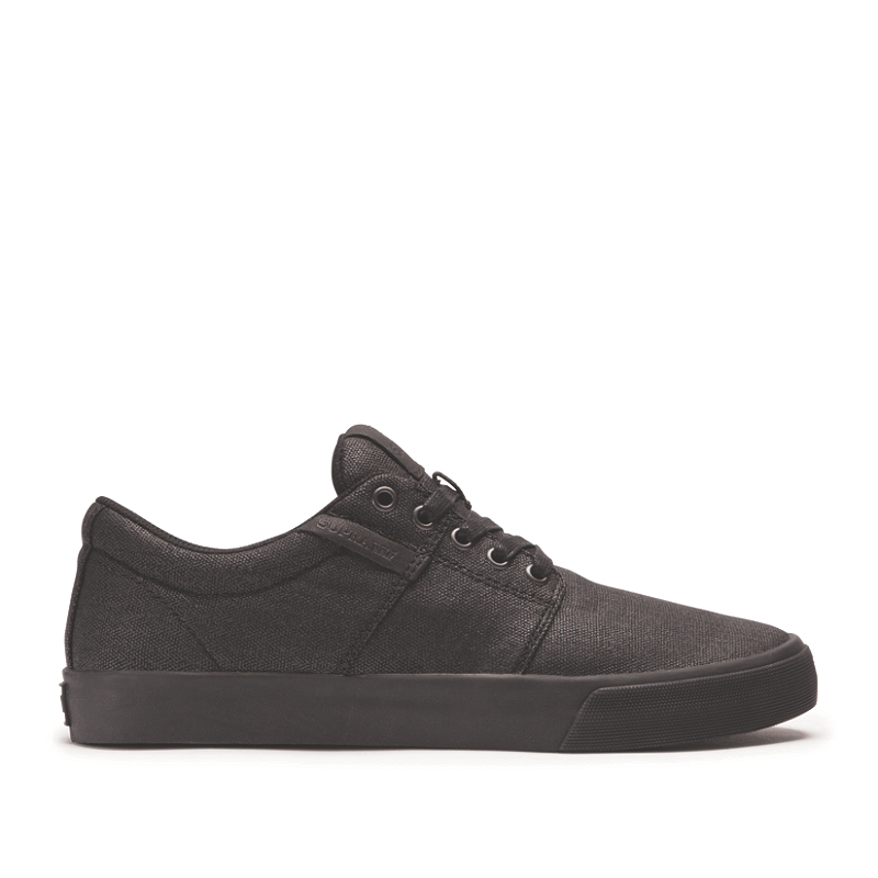 Zapatillas Supra Stacks II Vulcanizadas negras con suela negra-STACKSVULCII-Disaster-Street-Wear-01