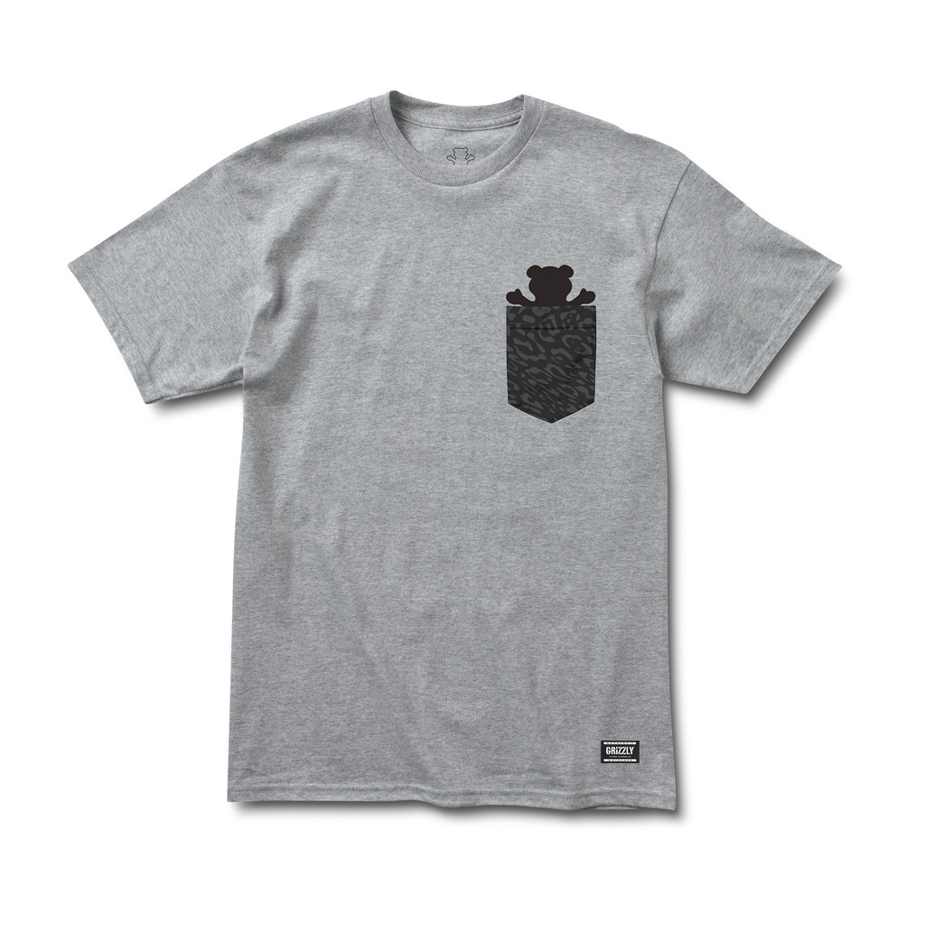 Camiseta Grizzly Trippy trail pocket gris-Disaster-Street-Wear-01
