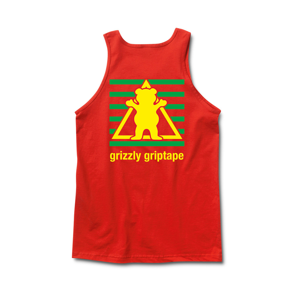 Camiseta de tirantas Grizzly Sports Academy roja-Grizzly_SM15_Tanks-Disaster-Street-Wear-02