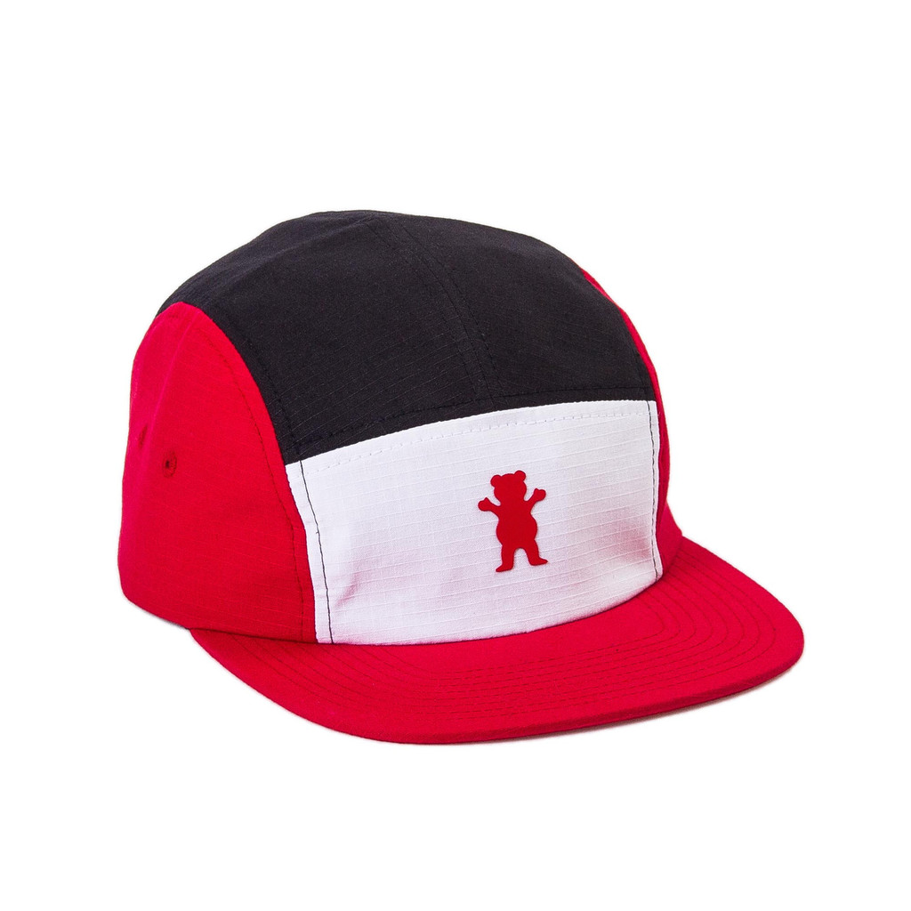 Gorra Grizzly 5 Panel Kodiak Camp roja-Kodiak_Camp_Hat_Red_Disaster-Street-Wear-01