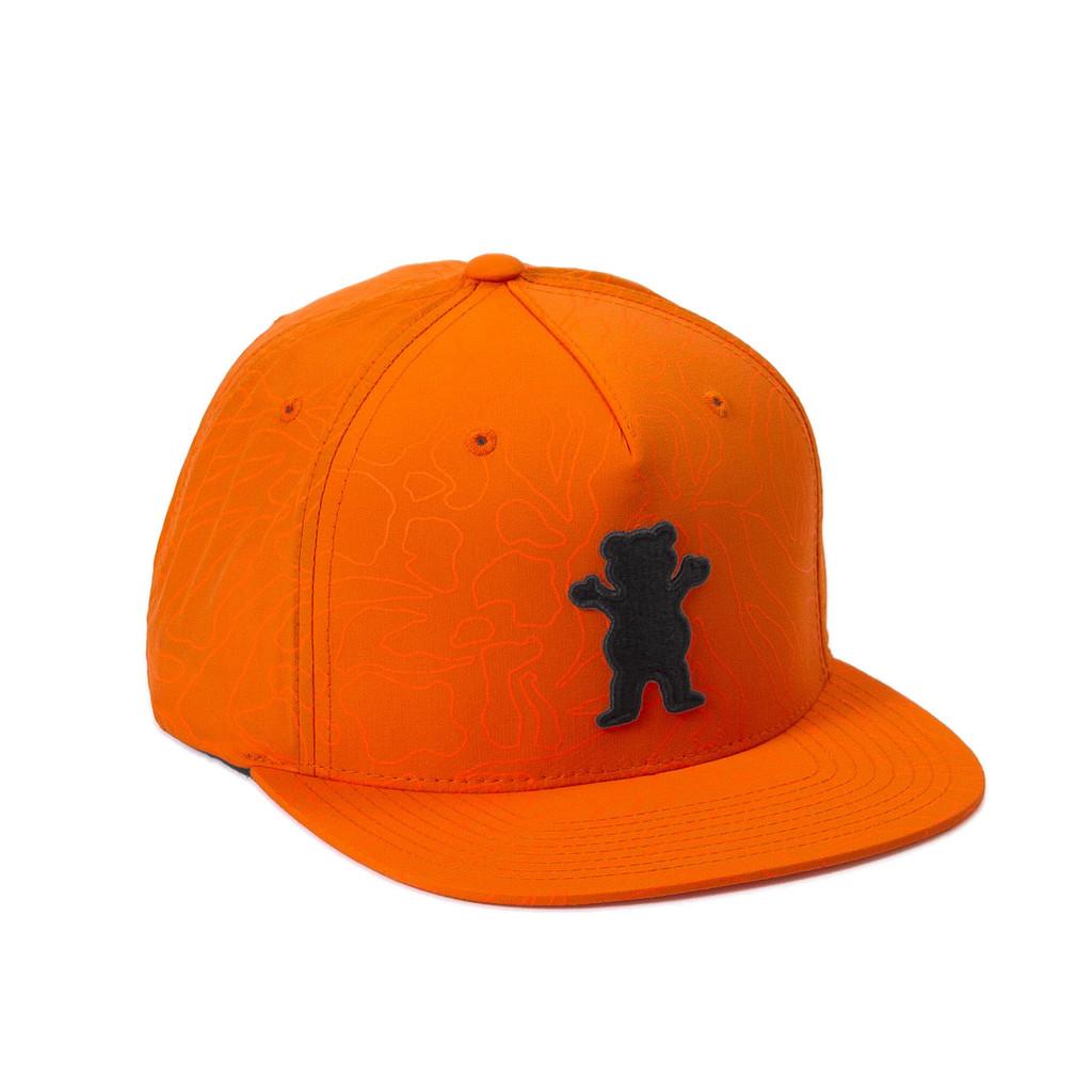 Gorra Grizzly snapback Topography OG Bear naranja-Topography_Og_SB_Org_Disaster-Street-Wear-01