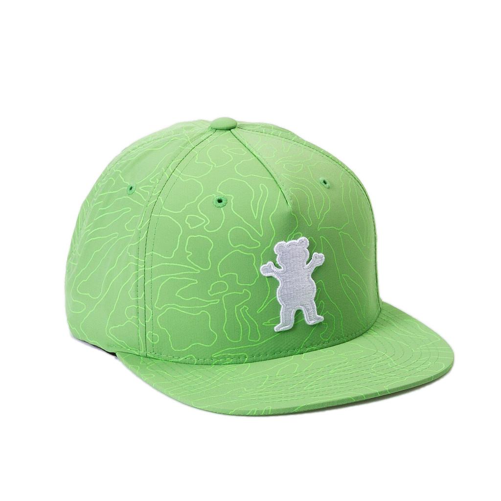 Gorra Grizzly snapback Topography OG Bear verde-Topography_Og_SB_Grn_Disaster-Street-Wear-01