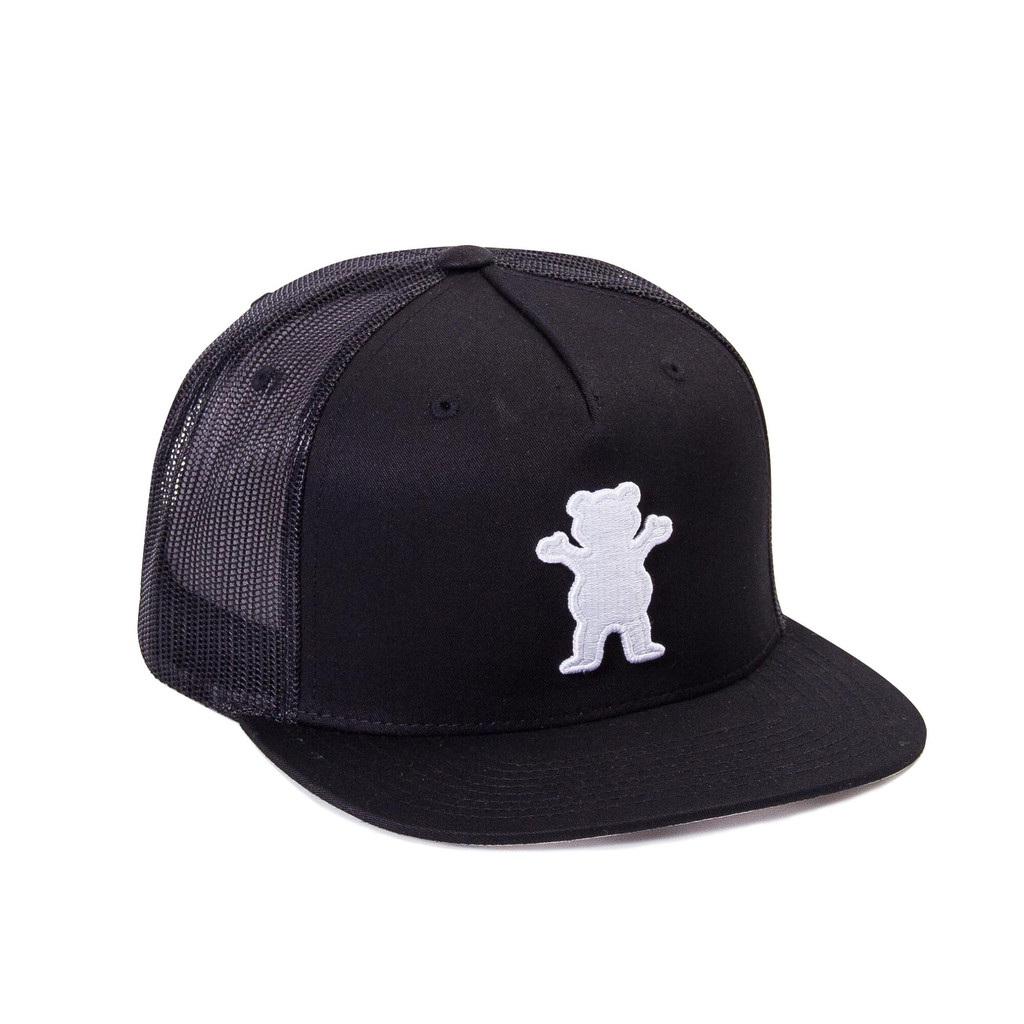 Gorra Grizzly trucker OG Bear trucker negra-OG_Bear_Trucker_Blk_Disaster-Street-wear-01