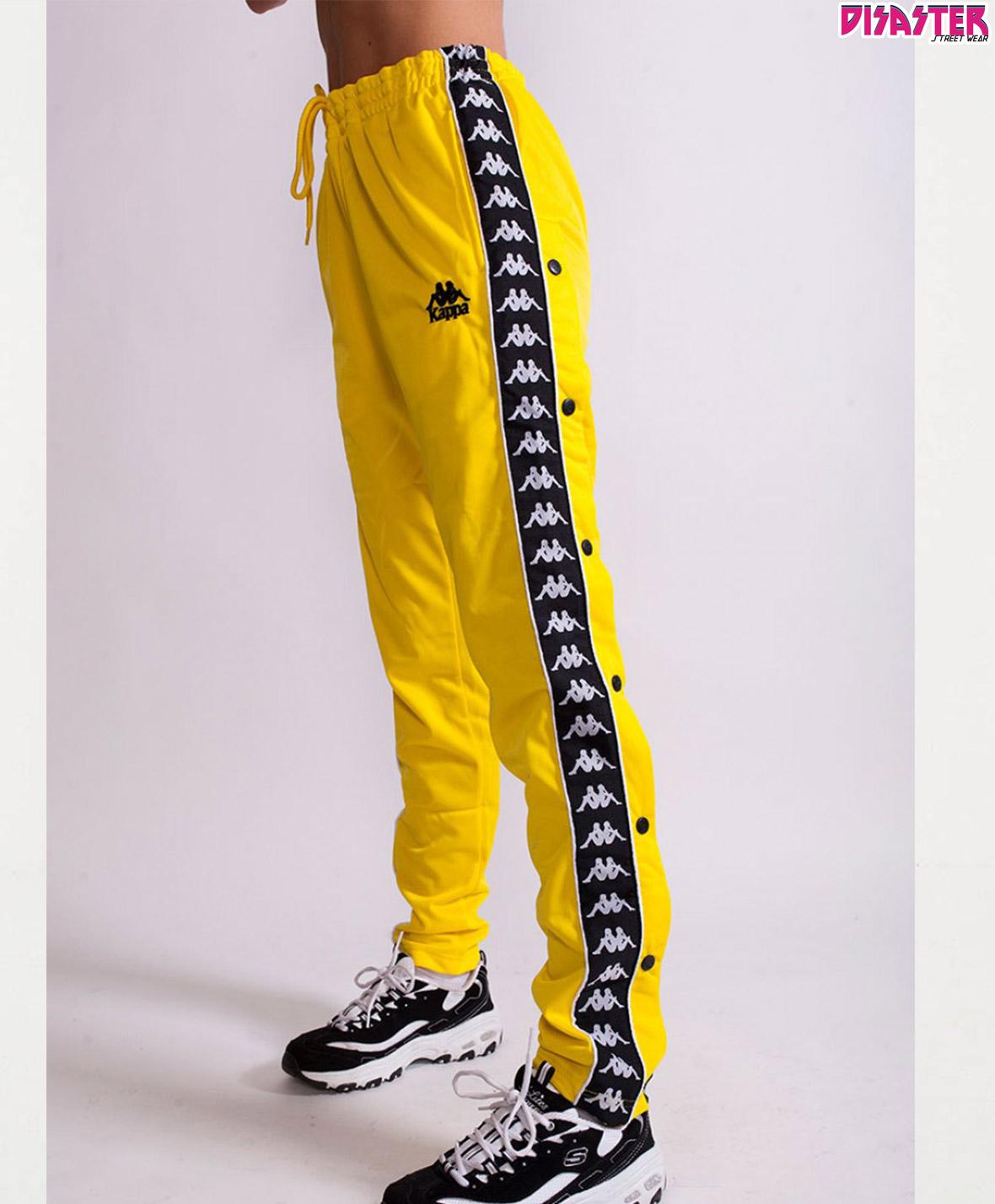 Banda Pantalón Hector Chandal Authentic Kappa Yellow Pants Amarillo q0PCqw61